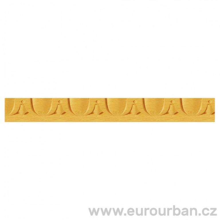 Vyřezávaná lišta ze dřeva 1284KR - Třešeň
