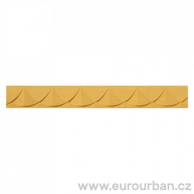 Dřevěná lišta s půlkruhovým vzorem 1285