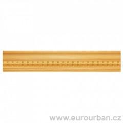 Dřevěná lišta s originálním detailem 1302 - dřevo ayous