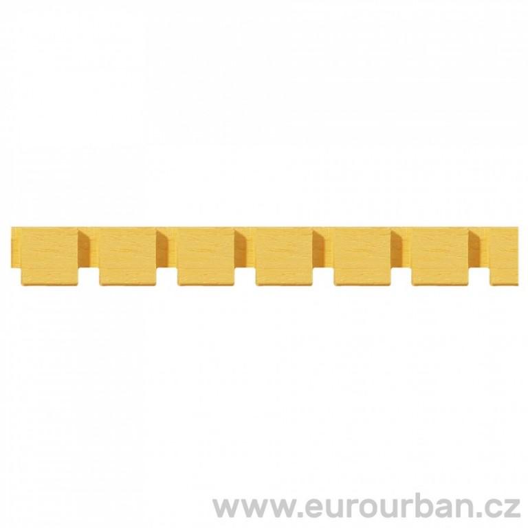 Dřevěná lišta s neobvyklým vyřezáváním 1302/A - dřevo ayous a ramin