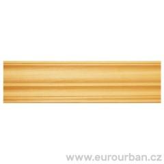 Klasická rohová lišta s jednoduchým vzorem 1303/B - ayous dřevo