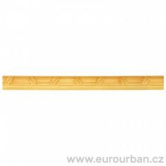 Dřevěná lišta se vzorem dubového listí 1309 - dřevina toulip