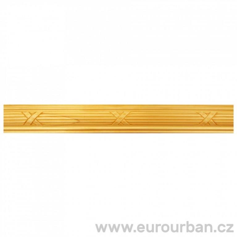 Dřevěná lišta se vzorem křížků 1310/A - dřevina toulip