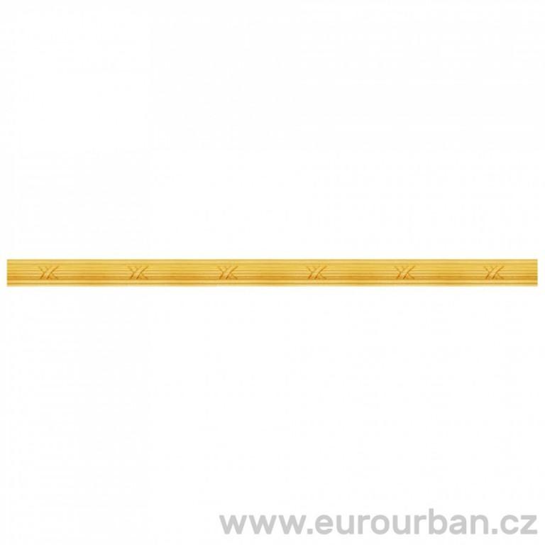 Lišta s jemným vzorem vyřezávaných křížků 1310/C - dřevina toulip