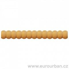 Dřevěná lišta s perlovým vyřezáváním TH73