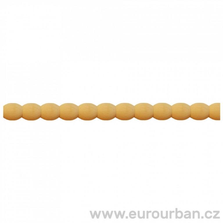 Dřevěná lišta s perličkovým vyřezáváním TH74