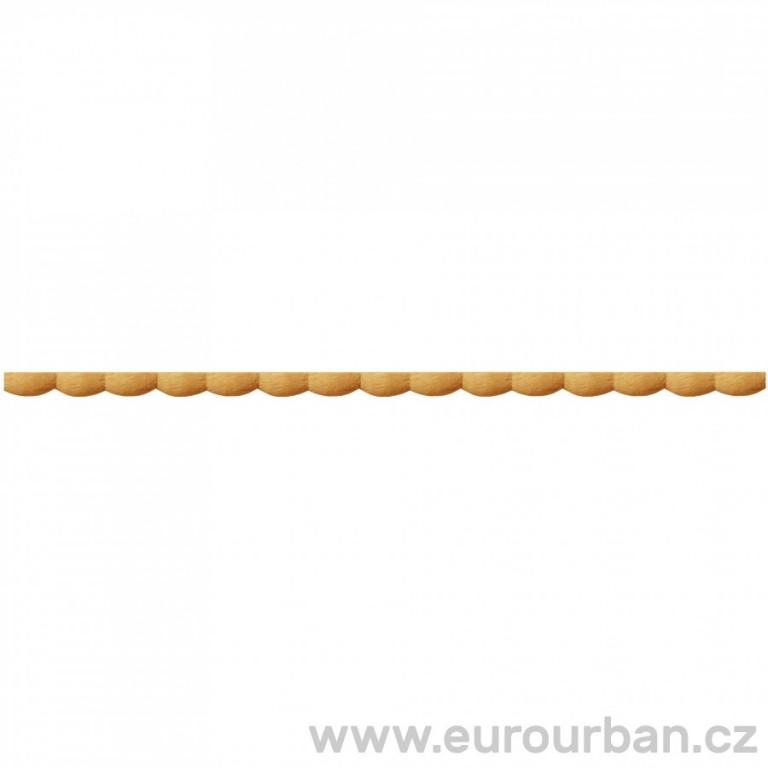 Zarovnaná lišta s perličkovým vzorem TV2