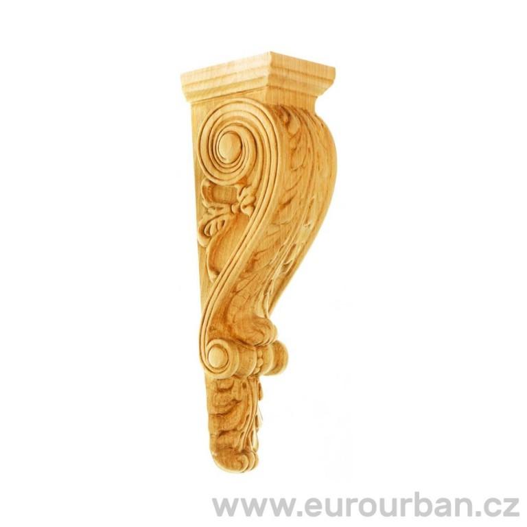 Vyřezávaná dřevěná hlavice ze dřeviny ayous KA-CA1/B