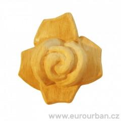 Vyřezávaná oválná rozeta RO61 ve tvaru růže