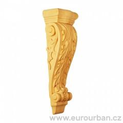 Ozdobná vyřezávaná hlavice ze dřeva ayous KA528