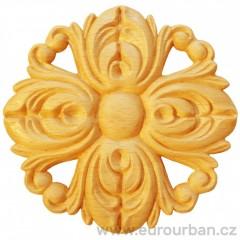Vyřezávaná rozeta ve tvaru květiny RR19/C