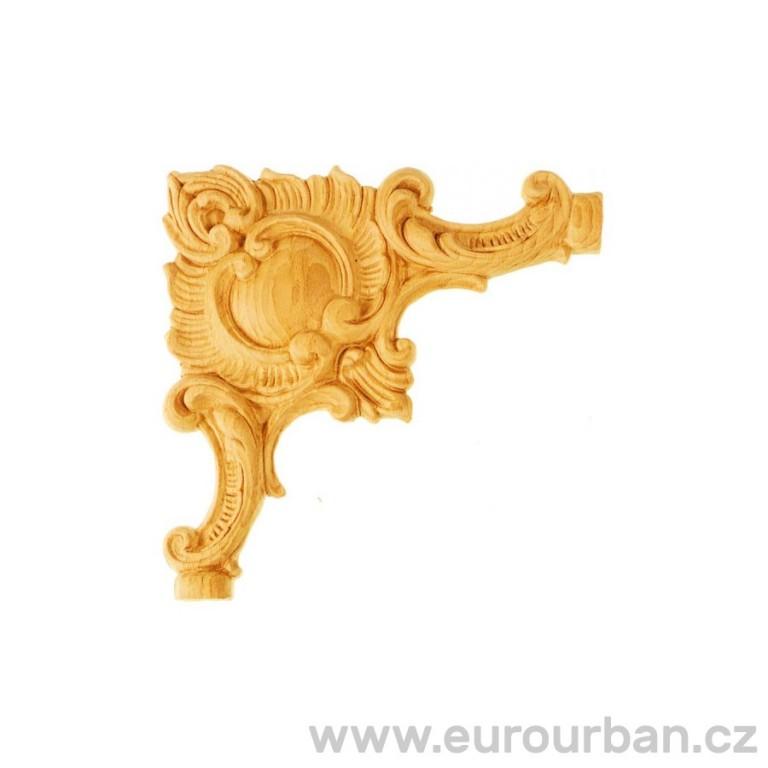 Zdobný dřevěný doplněk na rohy ES238