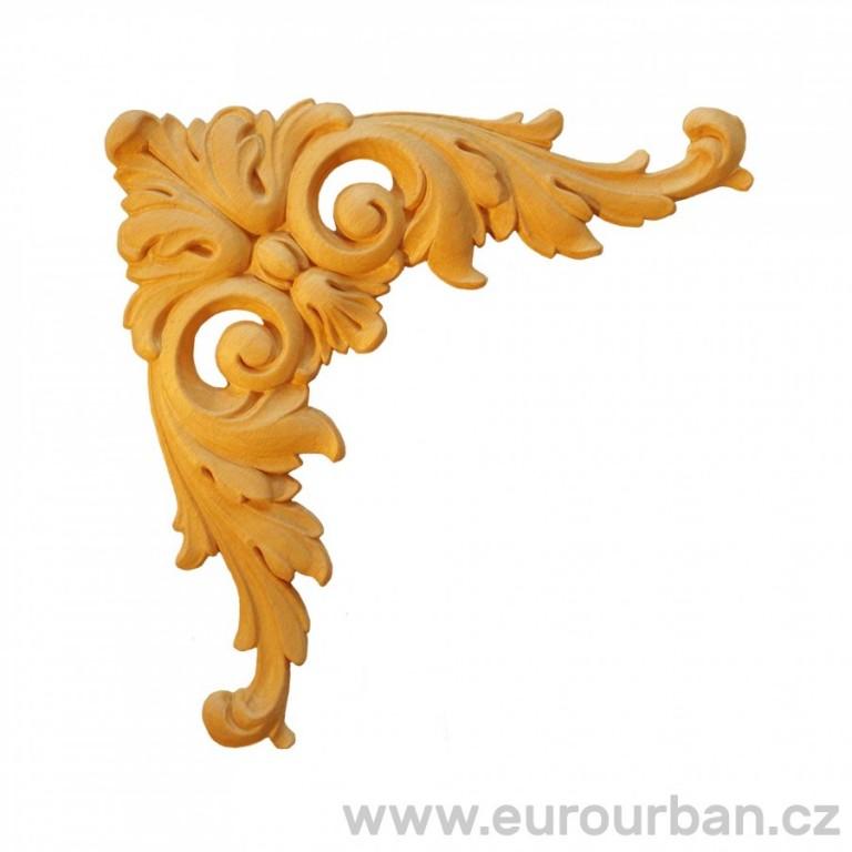 Dřevěná vrchní dveřní ozdoba ESN155