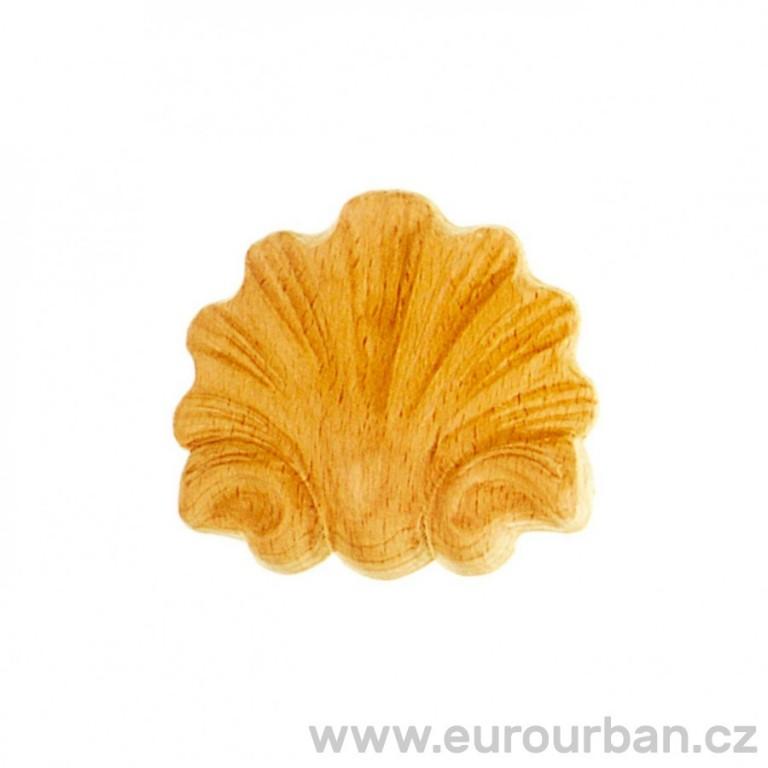 Ozdobná dřevěná mušle MU113