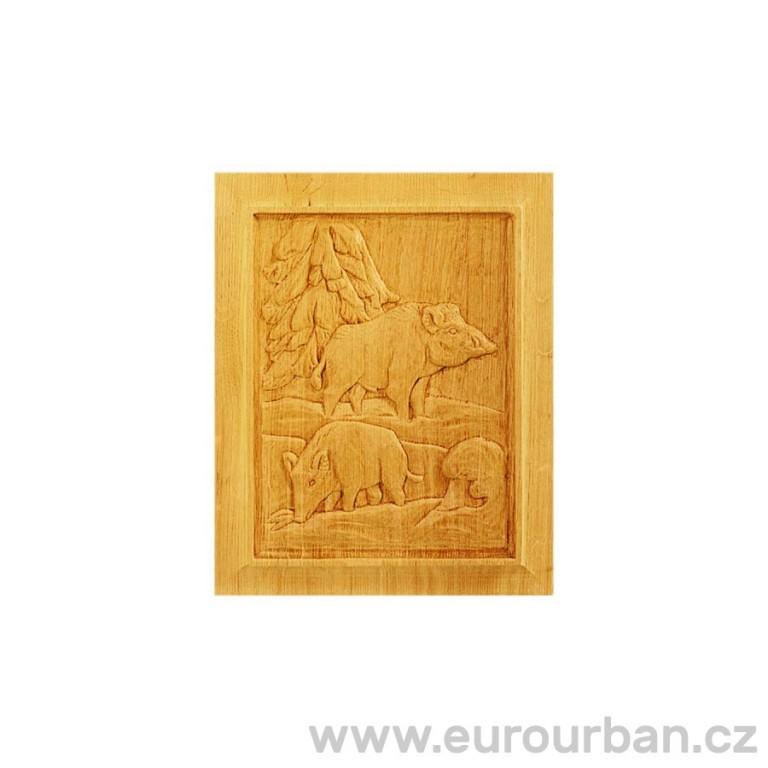 Dřevěná výplň se zvířecím motivem MF763