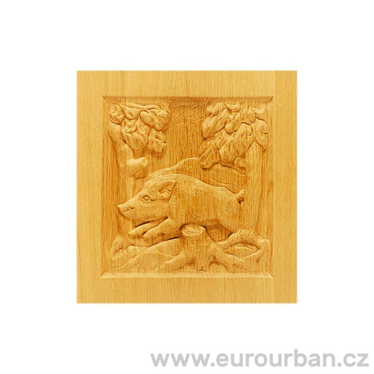 Dřevěná kazeta s vyřezávaným motivem MF798