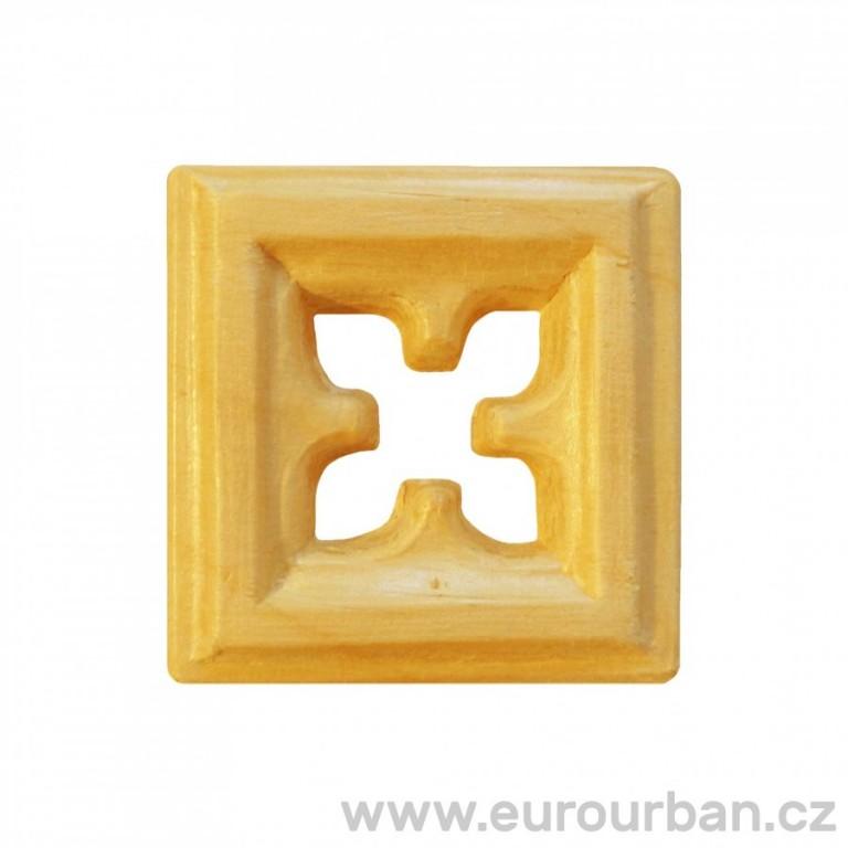 Dřevěná čtvercová ozdoba OM25 (Bříza)