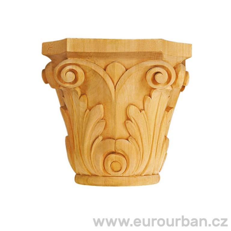 Ozdobná vyřezávaná hlavice ze dřeviny ayous KA597/B V