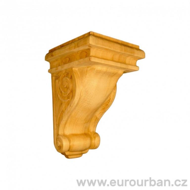 Ozdobná vyřezávaná hlavice ze dřeviny ayous KA660/A
