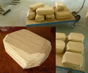 Sada dřevěných kamenů pro francouzkého designéra