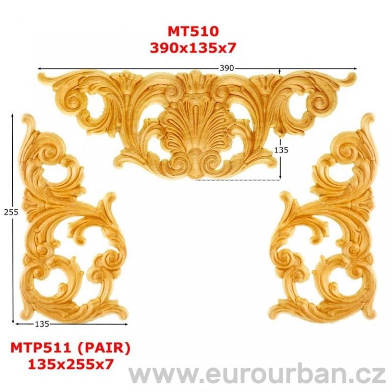 Trojdílná vyřezávaná ozdoba MT510
