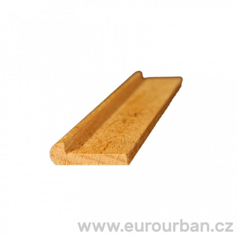 Profilovaná lišta z bukového dřeva P-4