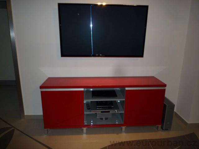 Televizní stolek - vysoký lesk