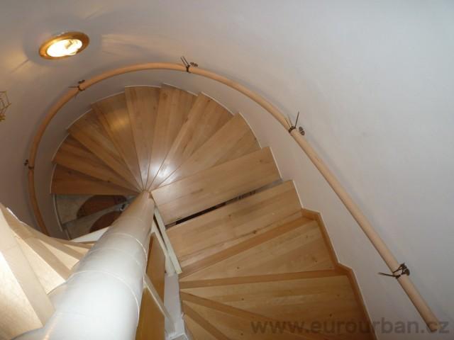 Točené schodiště v Praze