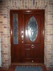 Vchodové dveře s vitráží č.1