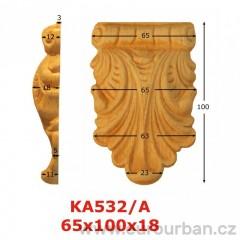 Ozdobná vyřezávaná hlavice z buku KA532/A