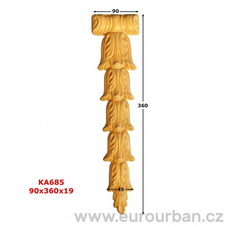 Ozdobná vyřezávaná hlavice z buku KA685