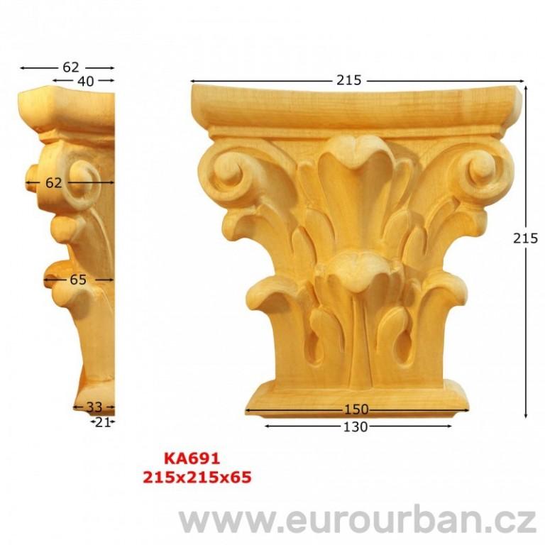 Ozdobná vyřezávaná hlavice KA691