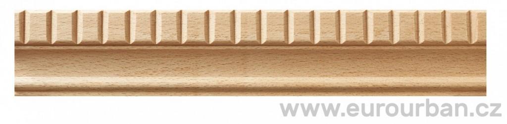 Buková lišta 620/33x12 zubořez
