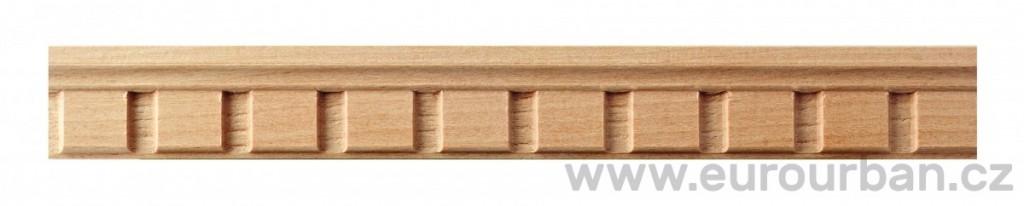 Buková lišta 8043/32x10 zubořez