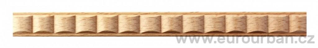 Vlnkovaná buková lišta 4014/10x5