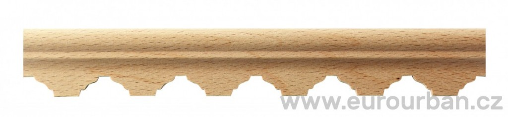 Buková lišta 4100/28x9 se zubovitým vzorem