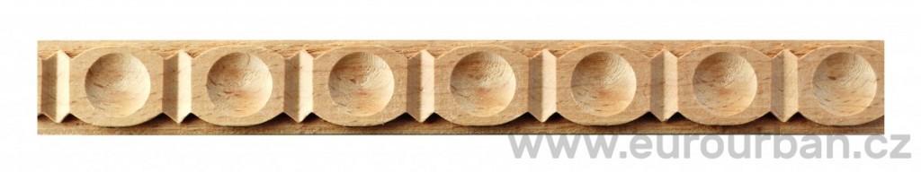 Buková ornamentní lišta 4009/22x7 s důlky