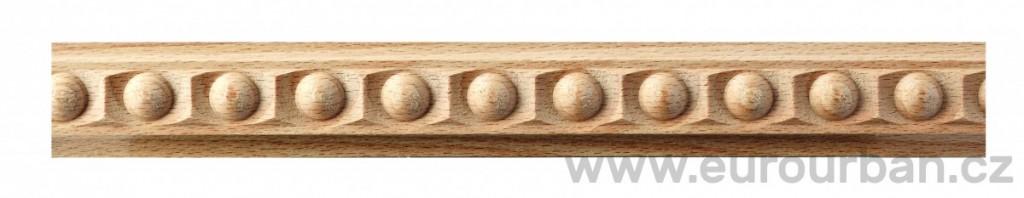Buková lišta 4015/20x8 s kuličkovým vzorem
