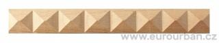 Buková lišta 4002/9x6 s pyramidami