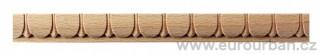 Vyřezávaná lišta z bukového dřeva 5007/15x8