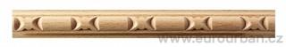 Dřevěná lišta s oválným vzorem 8029/21x9