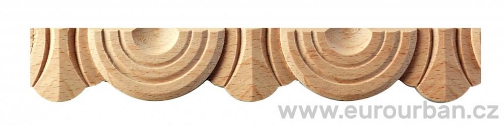Originální dřevěná lišta z bukového dřeva 4058/32x7
