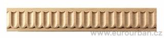 Dřevěná lišta s drobným vyřezávaným vzorem 2/30x7