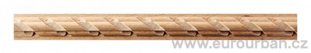 Dřevěná lišta s prostorovým vyřezáváním 1250