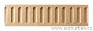 Masivní lišta z bukového dřeva 1269