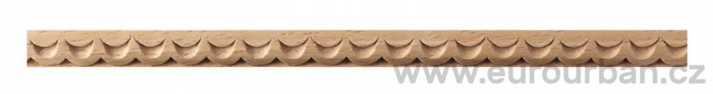 Dřevěná vlnkovaná lišta 1286/A