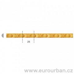 Lišta z bukového dřeva s drobným vzorem 1205 tech