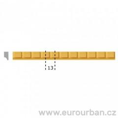 Dřevěná lišta s jemným krychlovým vzorem 1234 tech