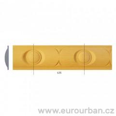 Vyřezávaná lišta z bukového dřeva 1244 tech