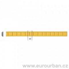 Dřevěná lišta s krychlovým vzorem 1255 tech